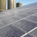 zeer vuile zonnepanelen op staldak